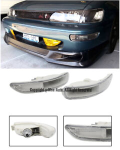 For 93 97 Toyota Corolla E100 Front Bumper Clear Lens Signal Light Lamp Pair