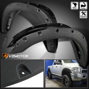 Rugged Textured 2010 2017 Dodge Ram 2500 3500 Pocket Rivet Bolt On Fender Flares