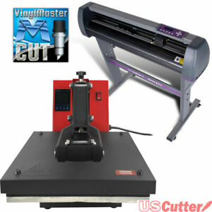 28 Vinyl Cutter 15 X 15 Heat Press Tshirt Sign Making Machines Combo