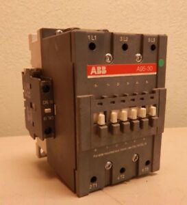 Abb A95 30 125 amp 600vac 75 hp Starter Contactor Coil 120v 3 ph tested