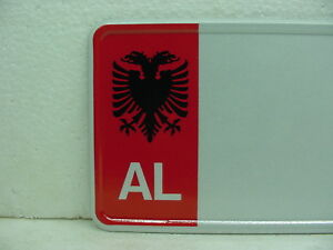 Albania Custom European Car License Plate Tag Mercedes Bmw Red