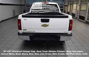 60 X20 Rear Window Usa Flag Truck Decal Graphics Choose Color 4x4 American