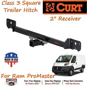 13295 Curt Class 3 Trailer Hitch With 2 Receiver Tube Promaster 1500 2500 3500