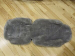 1994 1996 C4 Corvette Best Quality Sheepskin Gray Wool Seat Covers Like New