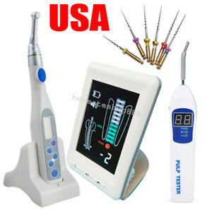 Usa 4 5 Dental Apex Locator Root Canal Endo Motor Treatment Pulp Tester Files