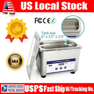 0 8l Stainless Steel Digital Ultrasonic Parts Cleaner Sonic Cleaning Timer Usa
