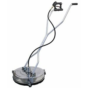 Stainless Steel Flat 21 Power Pressure Washer Surface Cleaner 4000 Psi Max 8gpm