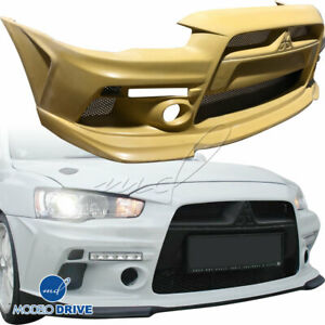 Modelodrive Frp Hl Wide Body Front Bumper For Mitsubishi Lancer 10 15