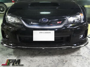 C Speed Ii Style Carbon Fiber Front Bumper Lip For Subaru 2011 2014 Wrx Sti Gvf