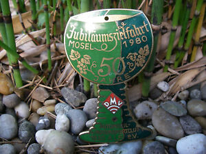 Very Nice Vintage German Dmv Motorsport Mosel Wine Rallye Enamel Car Club Badge
