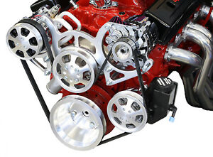 Sbc Serpentine Front Runner Pulley Drive Kit Polished Chrome