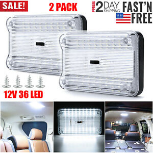 2pack 12v 36 Led Car Vehicle Interior Dome Roof Ceiling Reading Trunk Light Lamp