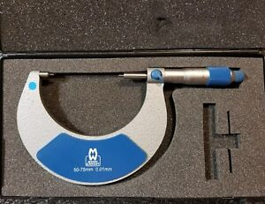 Moore Wright 50 75mm Pin Point Micrometer 0 01mm Carbide Tips Ratchet Stop