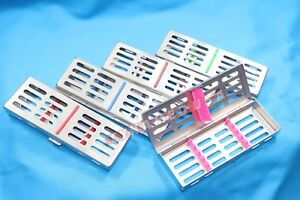 German Dental Sterilization Cassette Rack Tray Box For 5 Surgical Instruments