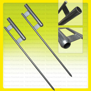 2 Pack Ground Spike For Swooper Flag Pole Feather Flutter Mount Stake