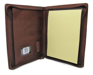 Brown Leather Presentation Folder Portfolio With Personalisation Option It08 0