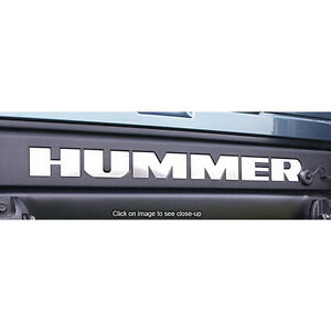2003 2009 Hummer H2 Sut Tailgate Bumper Rear Stainless Steel Chrome Letters Set