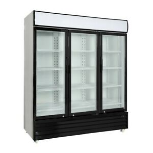 Procool Commercial 3 Glass Door Merchandiser Refrigerator Display Cooler
