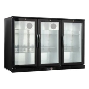 54 Wide 3 door Glass Back Bar Beverage Cooler Beer Fridge Refrigerator