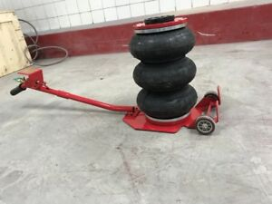 Auto Body Tire Shop Triple Bag Air Jack 6600 Lbs Quick Lift Heavy Duty Jacking