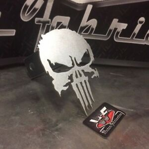 Punisher Hitch Cover New Series Style 1 8 Steel Tow Towing Reese Custom
