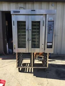 Hobart Baxter Ho300g Mini Gas Rotating Rack Steam Injected Bread Bakery Oven