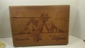 Vitg Mission Pak Candied Fruit Box Dovetailed Redwood Wood California 16 X11