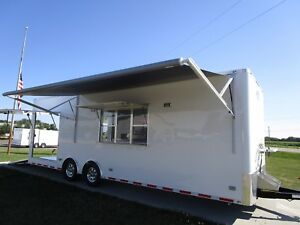 2018 Atc Bbq Rear Porch Concession Trailer