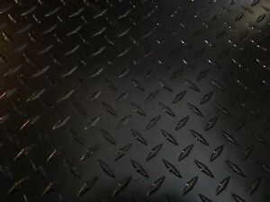 063 Matte Black Powdercoated Aluminum Diamond Plate Sheet 11 X 40 Qty 2