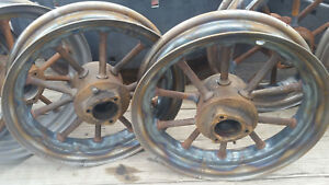 Farmall F12 F14 Tractor F h Round Spoke Front Wheels Set