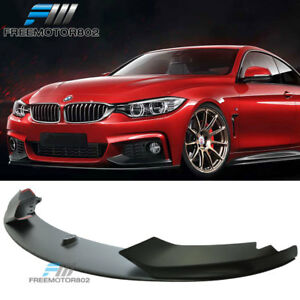 For 14 16 Bmw F32 4 Series M tech Msport Only Front Bumper Lip Spoiler Pp