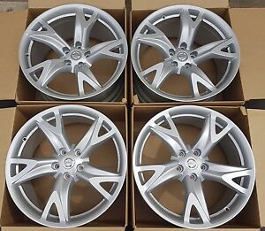 19 Nissan 370z 370 Z Rays Engineering Forged Factory Oem Wheels Rims Silver