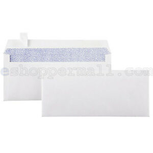 Peel Self seal White Letter Mailing Long Security Envelopes 4 1 8 X 9 1 2
