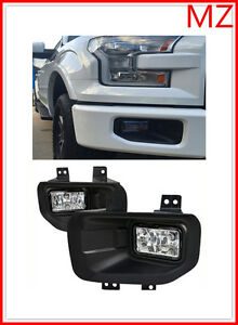 For 15 18 F150 Pickup Oe Style Front Bumper Led Foglight Set Assembly Pair Kits