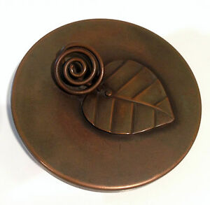 Rebajes Mid Century Modern Copper Covered Dish Signed