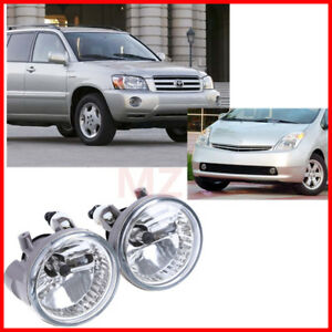 For 04 06 Toyota Highlander Fog Lights Kits Oe Replacement Driving Harness Bulbs
