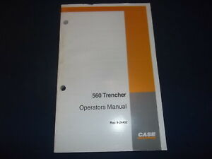 Case 560 Trencher Operator Operation Maintenance Book Manual Oem