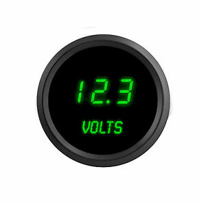 52mm 2 1 16 In Digital Voltmeter Intellitronix Green Leds Black Bezel Warranty