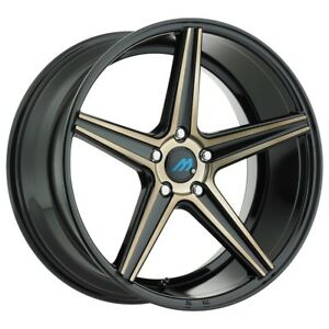 20 Inch 20x8 5 Mach Me 1 Gloss Black Bronze Wheel Rim 5x120 35