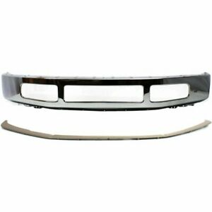 New Bumper Face Bar Kit Front F450 Truck Chrome Ford 08 10 Fo1002404 Fo1044102