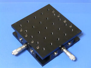 Newport 400 Xy Linear Translation Stage With Micrometers