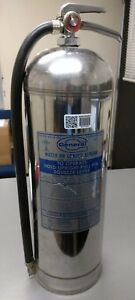 Vintage General 2 1 2 Gallon Water Pressurized Silver Fire Extinguisher Ws ls900
