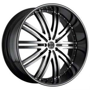 26 Inch 26x10 2crave No 11 Black Diamond Wheel Rim 5x4 5 5x114 3 15