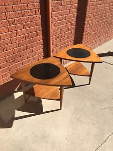Paul Mccobb For Lane Signature Pair Of Wedge End Tables 1962