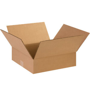 50 14 X 14 X 4 Cardboard Shipping Boxes Flat Corrugated Cartons