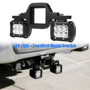 18w Cree Led Pods Backup Reverse Tow Hitch Brackets For Offroad Jeep Jk Tj Yj