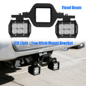 2x 18w Led Backup Reverse Light tow Hitch Mount Bracket For Jeep Ford Suv Truck