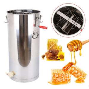 Manual Stainless Steel 2 Frame Honey Extractor Beekeeping Equipment Large