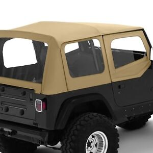 Jeep Wrangler 1988 1995 Bestop 51120 37 Replace A Top Spice Fabric Only Soft Top