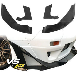 Vsaero Frp Tkyo Bunny V2 Wide Body Front Canards 4pc 2dr Coupe For Nissan S